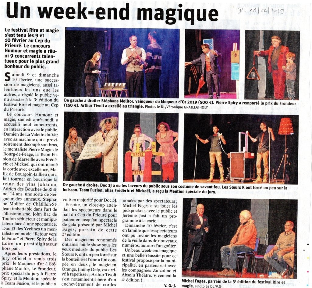 Article de Presse Rire et magie 2