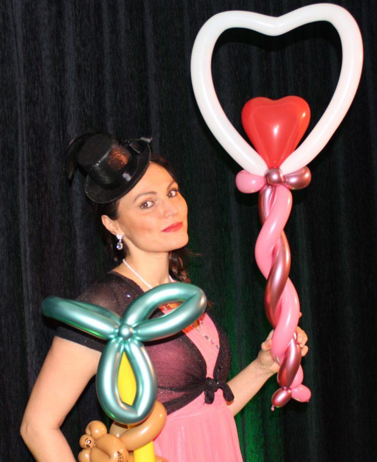 Un jolie coeur en sculpture sur ballon