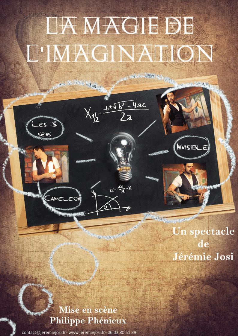 Affiche de spectacle de magie pour enfant : la magie de l'imagination